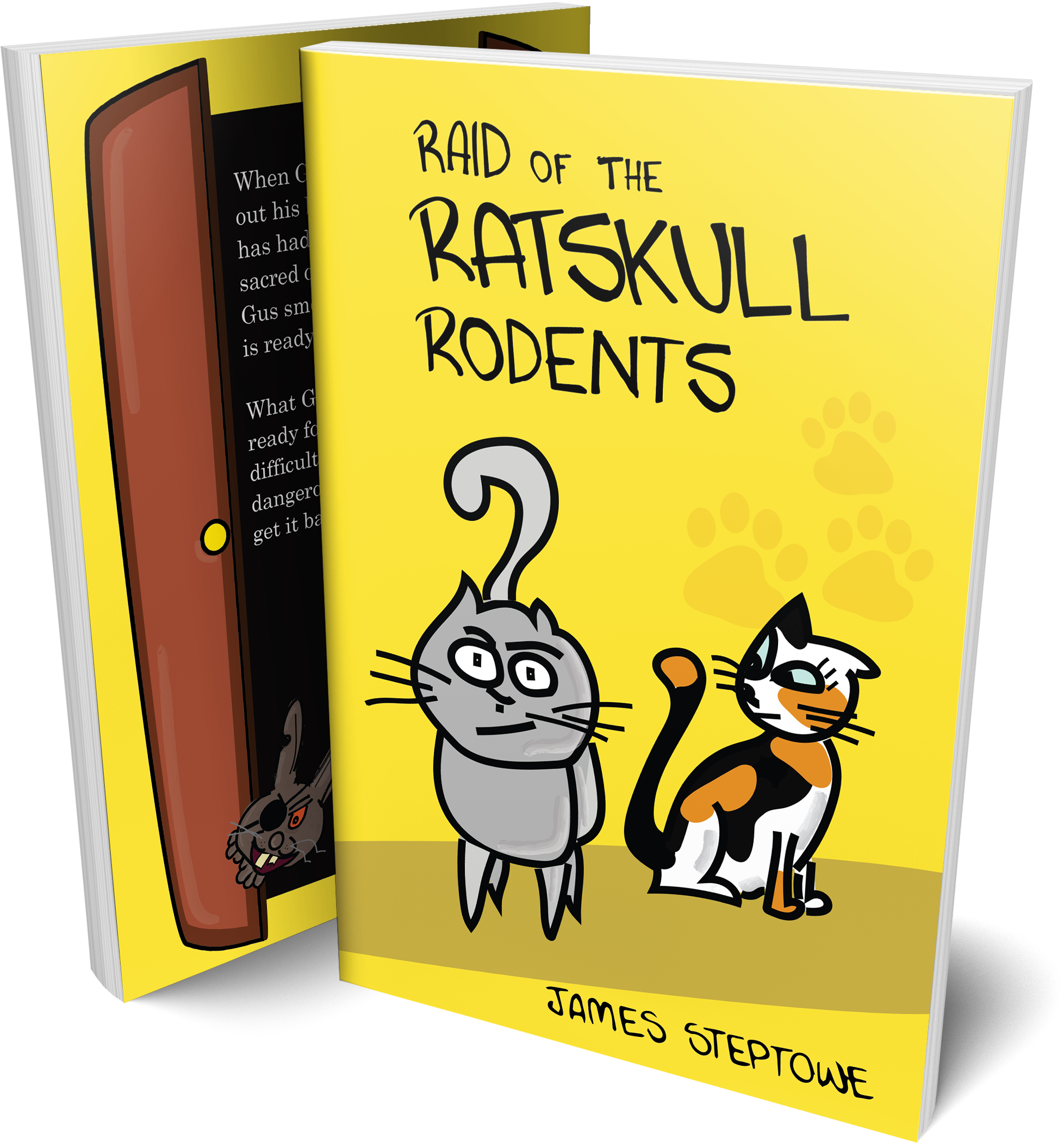 Front and back cover of Raid of the Ratskull Rodents